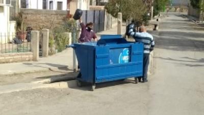 Contenedores y recolección especial de residuos en la burbuja sanitaria