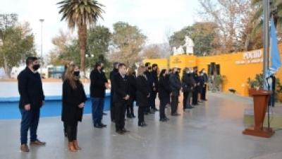 Acto del Día de la Independencia en Plaza La Libertad